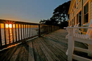Sunsets on the deck at the Inn at Corolla