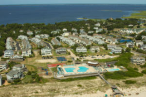 Areal view of the Corolla Light Resort Village
