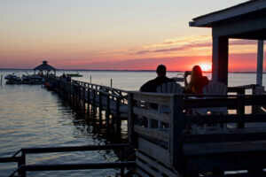 Ultimate Sunsets from our pier at the Inn at Corolla, Corolla North Carolina Outer Banks.